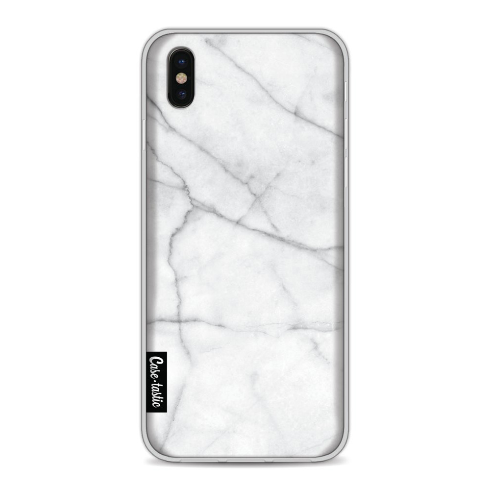 Casetastic Softcover Apple iPhone X / XS - White Marble